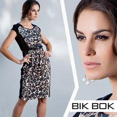 """""""Animal Print"""" lindo e moderno do inverno 2015 da Bik Bok #fashion #bikbok"""