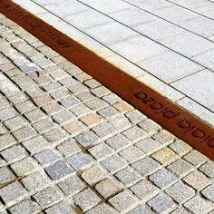 corten steel inlay paving - Google Search