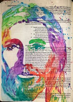 Matthew 12:18 Jesus watercolor painting Bible art journaling by @peggythibodeau www.peggyart.com