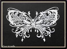 Картина панно рисунок Вырезание Бабочка Бумага фото 1