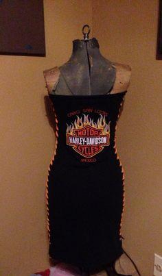 Hand made Harley Davidson lace up dress on Etsy, $45.00