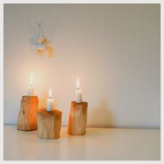Wooden candleholders at DIY - Design it yourself