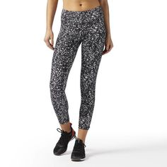 e76a16d6b515c Reebok - LES MILLS Lux Bold 3/4 Tight Black Leggings, Women's Leggings,