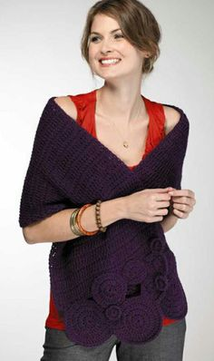 Deep purple stylish shawl