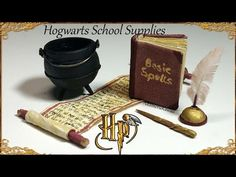 Miniature Harry Potter / Hogwarts inspired School Supplies - YouTube