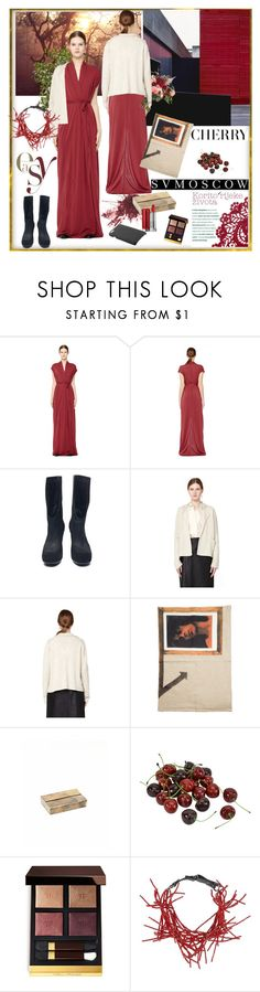 """SVMOSCOW - RICK OWENS LILIES"" by carola-corana ❤ liked on Polyvore featuring Rick Owens Lilies, The Row, Raf Simons, iolom, Tom Ford, Brunello Cucinelli and svmoscow"