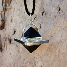 Handcut raw Volcanic Lava Double Pyramid Pendant 'As above so below' available to order www.lava-links.com x