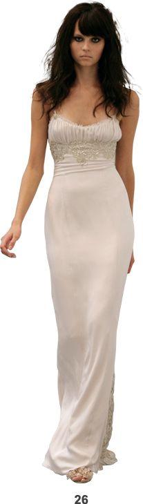 Slip evening dress