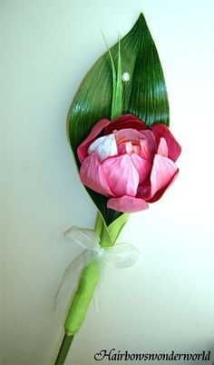 Wedding bouquet - Single Stem LOTUS Bridesmaid Bouquet - You choose colours
