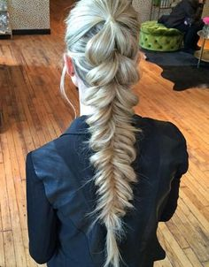 Lovely Pull Through Pony Fishtail Braided Long Hairstyles 2015