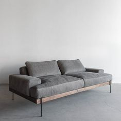 Rivera Sofa Walnut and Steel Base Down Cushions image 0 Steel Furniture, Ikea Furniture, Modern Furniture, Furniture Design, Furniture Ideas, Rustic Furniture, Furniture Websites, Furniture Online, Furniture Stores