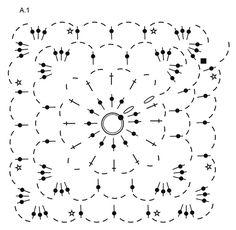Garden Paradise / DROPS 178-11 - Shoulder piece with crochet square, crochet in DROPS Big Delight. Size S-XXXL. - Free pattern by DROPS Design