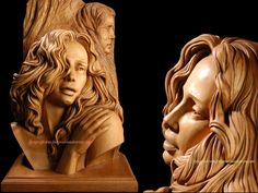 """Longing"" wood sculpture -- by Fred Zavadil"