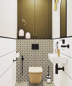 Which of the toilet room fragments do you like . Bathroom Design Small, Bathroom Interior Design, Modern Bathroom, Wc Design, House Design, Design Ideas, Small Toilet Room, Bathroom Inspiration, House Styles