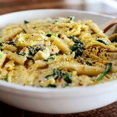 Spinach Artichoke Pasta (Pioneer Woman Cooks)