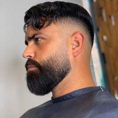 Fade Haircut With Beard, Buzz Cut With Beard, Types Of Fade Haircut, Beard Cuts, Mens Hairstyles With Beard, Beard Haircut, Black Men Hairstyles, Haircuts With Beards, Taper Fade With Beard