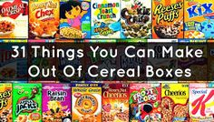 The Idea King : 31 Things You Can Make Out Of Cereal Boxes