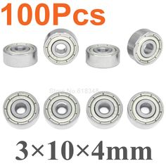 100pcs Universal Miniature Ball Bearings 3x10x4mm Metal Shielded For RC Car Spare Parts Remote Control Toys DIY #Affiliate