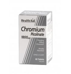 Chromium Picolinate 200ug is a naturally occurring trace mineral vital for various processes in the body. It plays a key role in the metabolism of fats and carbohydrates, and also helps maintain healthy blood-sugar levels. HealthAid Chromium picolinate provides a high potency tablet that is in a readily absorbable form for optimum benefit.