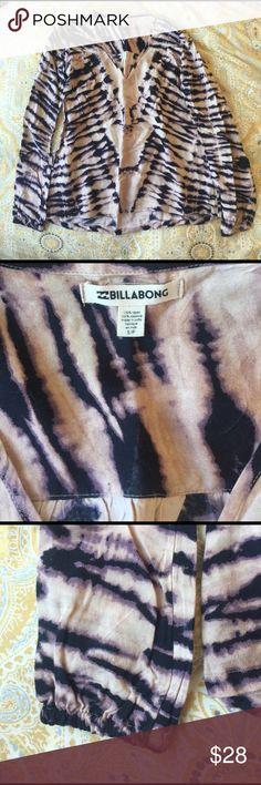 NWOT: Purple Tye Dye Cotton Longsleeve Perfect for festival season! Never been work billabong cotton long sleeve shirt. Billabong Tops Blouses