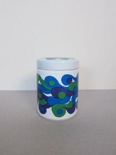 Arabia Finland Mod Mimmi Jar 1960s Pattern by by ModernSquirrel, $82.00