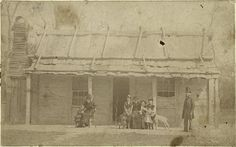 Kelly homestead in April 1881 - during a visit by Constable Robert Graham. He would work with Mrs Kelly to put an end to the Kelly outbreak once and for all. Australian News, Australian Bush, Ned Kelly, Grace Kelly, Famous Outlaws, Free Family Tree, Picture Collection, First Nations, Back In The Day