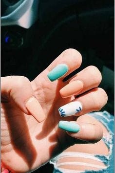 38 unique matte nail designs ideas for this fall - # . - 38 unique matte nail designs ideas for this fall – # … # designs # - Nail Design Glitter, Nail Design Spring, Fall Nail Art Designs, Fall Designs, Acrylic Nail Designs For Summer, Fake Nail Designs, Cute Simple Nail Designs, Light Blue Nail Designs, Light Blue Nails