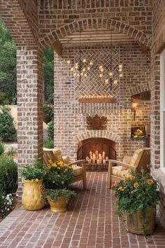 Breezy Porches and Patios From Southern Home and Garden would make a beautiful back porch!From Southern Home and Garden would make a beautiful back porch! Outdoor Rooms, Outdoor Living, Outdoor Decor, Outdoor Patios, Outdoor Candles, Outdoor Chandelier, Outdoor Kitchens, Chandeliers, Candle Chandelier