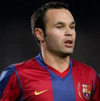 Andrés Iniesta - a top class player of the best team in the world.