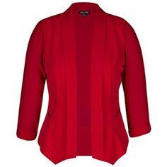 City Chic Colored Drapey Blazer Jacket