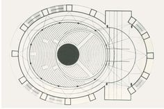 Plans of Architecture | Walter Gropius | Total Theatre, 1927, Berlin Germany