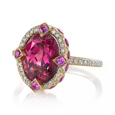 Spinel Birthstone Named for August, Joining Peridot: Duchess Ring by Erica Courtney. Photo credit-jewelers.org