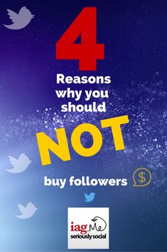What's more important, 10,000 fans or followers, or 100 who will actually engage with you?  Here are 4 Reasons Why You Should Not Buy Followers by @iagdotme