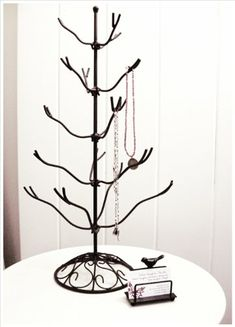 Wrought Iron Ornament Tree with Filigree Base - Easter Egg Ornaments