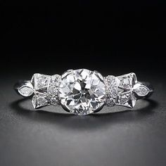 Diamond Vintage Engagement Ring from Lang Antique & Estate Jewelry.
