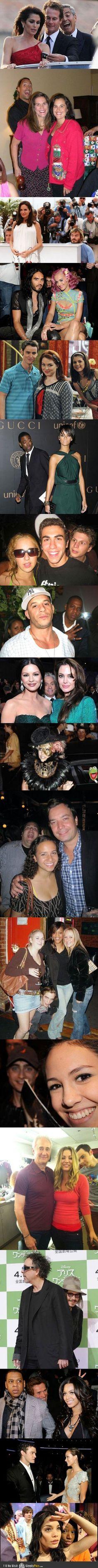 I love that celebrities photobomb too!