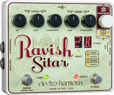 $240 Electro-Harmonix The Ravish Sitar Synthesizer Guitar Effects Pedal    He sure thinks I have a lot of money don't he...