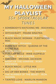 Halloween Music Playlist Ideas   UKWordGirl