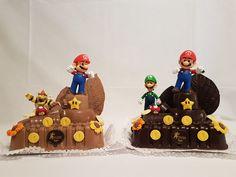 Super Mario. Bollo de Pascua con Luigi o otros personajes. Figuras de Chocolate en Gijón. Luigi, Mario, Birthday Cake, Desserts, Food, Godchild, Buns, Easter, Tailgate Desserts