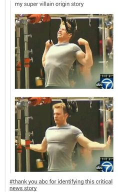 Thank you ABC, this is super important! #steve rogers #chris evans #CaptainAmericaCivilWar