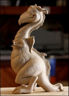 WIP from one of the best sculptors I know! Little Dragon by ~RandyHand on deviantART