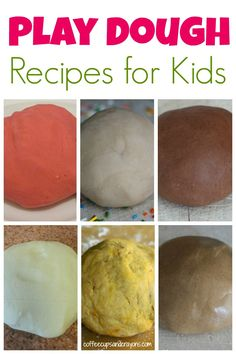 20+ Play Dough Recipes for Kids!