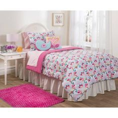 Mainstays Kids Tulip Garden Comforter Set- 2 Decorative Pillows and Shams Included