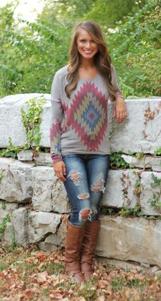 The Pink Lily Boutique - Take a Backroad Blouse, $34.00 (http://www.thepinklilyboutique.com/take-a-backroad-blouse/)