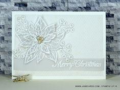 Vellum Heat-Embossed Poinsettia Card - JanB Cards