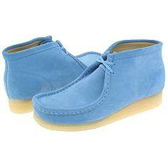 ShoesAtoZ - Clarks - Wallabee (Carolina Blue Suede)
