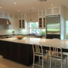 long narrow kitchen island design