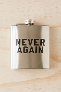 Never Again 6oz Flask - Urban Outfitters
