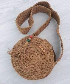 Canta Weaving Projects, Crochet Projects, Diy Crochet Bag, Mochila Crochet, Crochet Circles, Side Bags, Crochet Patterns, Purses, Knitting