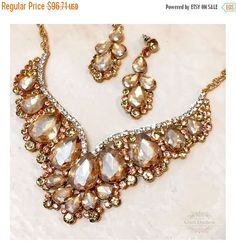 Hey, I found this really awesome Etsy listing at https://www.etsy.com/listing/232431637/wedding-jewelry-set-bridal-back-drop-bib